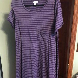 LuLaRoe purple XL Carly dress